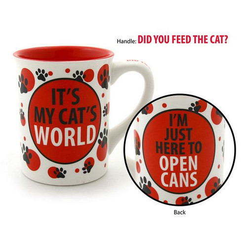 "Cat Theme Mug ""It's My Cat's World"" 4031102"