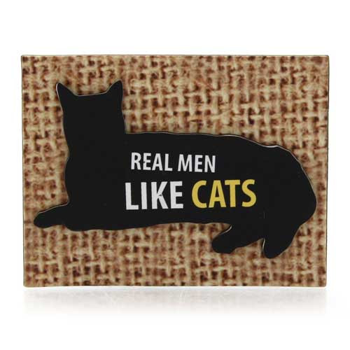 Real Men Like Cats Small Magnet 4039109