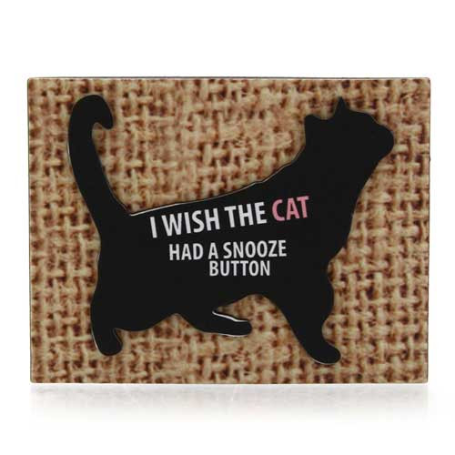 Snooze Button Cat Magnet 4039113