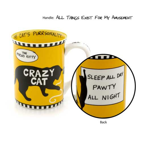 Crazy Psycho Kitty Cat Stoneware Mug 4041712
