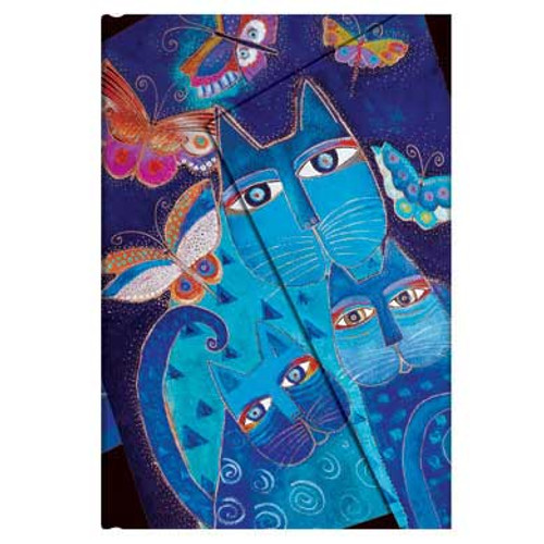 Laurel Burch Journal Blue Cats & Butterflies Mini 1019-7