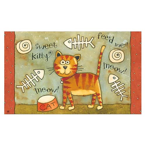 "Sweet Kitty Floor Mat MatMates - 18"" x 30"" - 13807D"