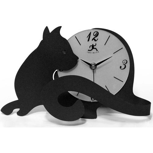 Cat Table Top Clock - 13928-3066