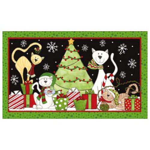 Cat Theme Holiday Floor Mat 18816D