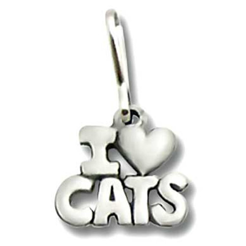 I Love Cats Zipper Pull 1942ZP