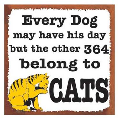 """Cat Tin Sign """"Cat vs. Dog"""" - 31120A"""