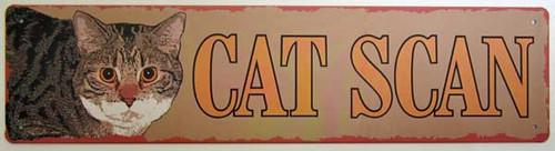Cat Scan Metal Painted Sign 32775SACN