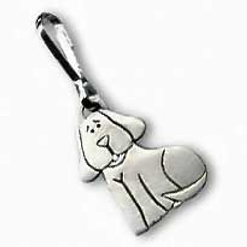 Dog Zipper Pull Sitting Dog 3325ZP