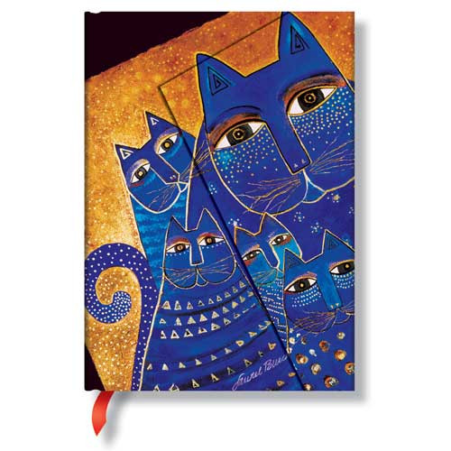 Laurel Burch Journal Blue Mediterranean Cats Midi 396-1