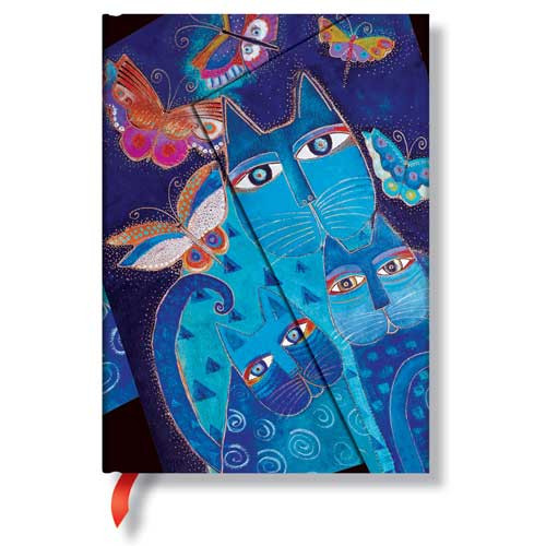 Laurel Burch Journal Blue Cats & Butterflies Midi 397-8