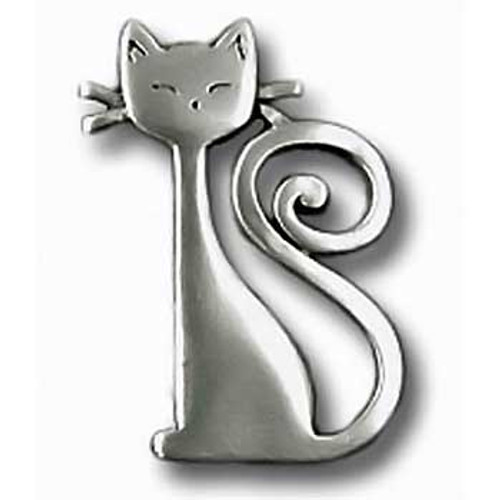 Cat with Curly Tail Pin 6016PP