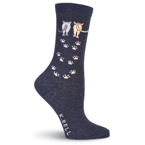 Cat Socks Catwalk - Denim Blue - KBWF15H054-01