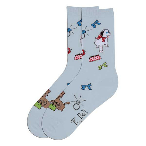 "Dog Socks ""Happy Dog"" Lite Blue 61597LB"