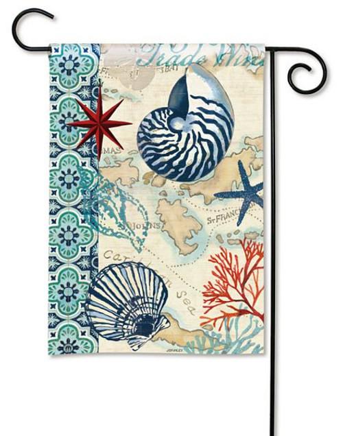 """Sea Shell """"Trade Winds"""" Garden Flag 32681"""