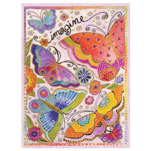 "Laurel Burch Card Birthday - ""Imagine"" Butterfly - BDG44844"