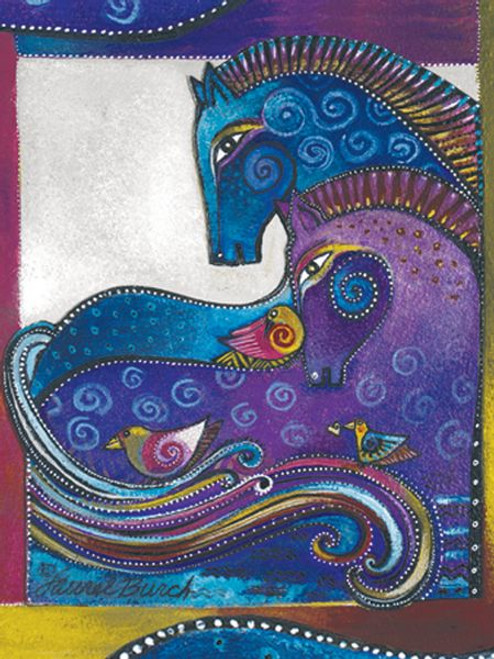 "Laurel Burch Card Blank - ""Aquatic Mares"" - BKG13252"