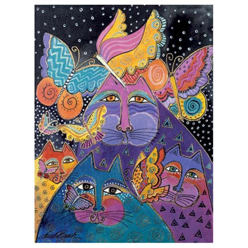 Laurel Burch Note Cards Cats with Butterflies 8 in a Package - BTN35937