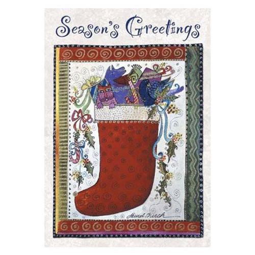 Laurel Burch Christmas Card Single - CCC18859