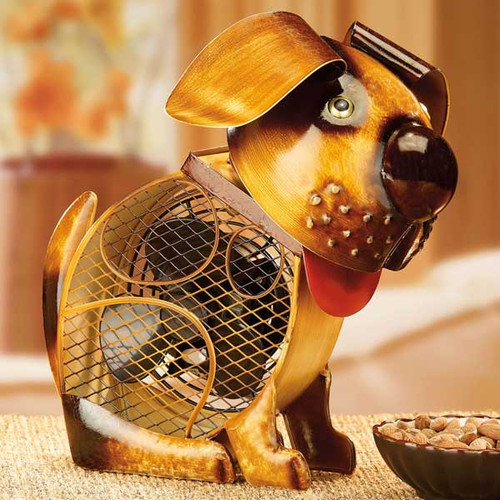 "Dog Shaped Electric Fan Small ""Country Dog"" DBF2010"