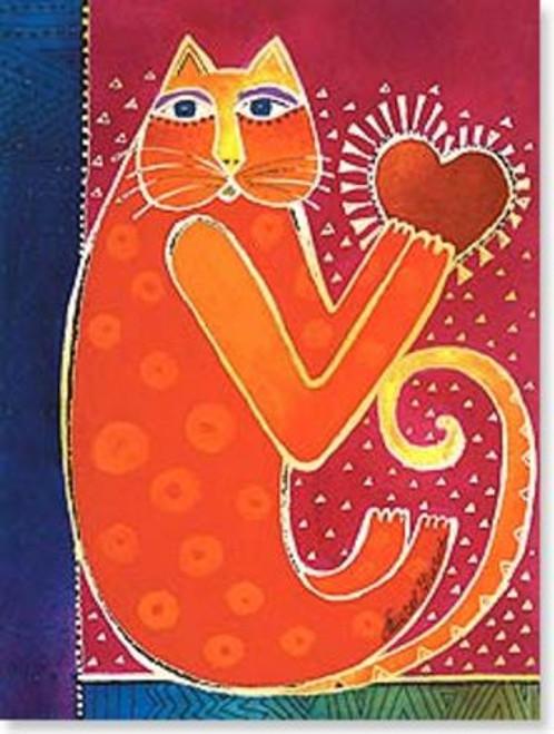 "Laurel Burch Card Friendship - ""A Happy Heart"" - FRG13801"