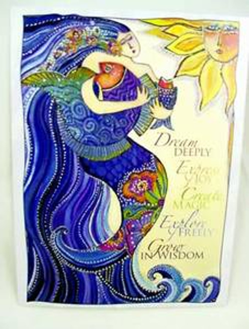 "Laurel Burch Inspirational Card - ""Mermaid Ocean Song"" - ISG17153"