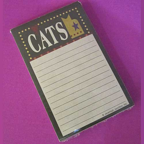 Cat Blank Note Pad JN052