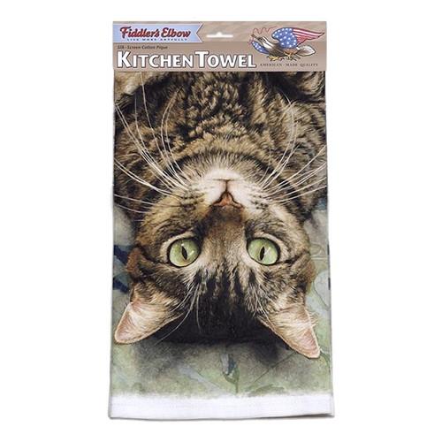 "Cat Kitchen Towel ""Peculiar Perspective"" - FE-K315"
