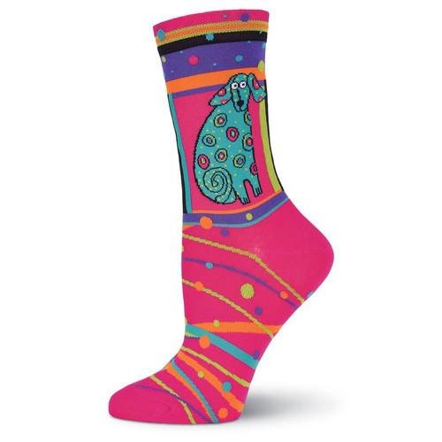 "Laurel Burch Socks ""Matisse"" Dog - LB1043"