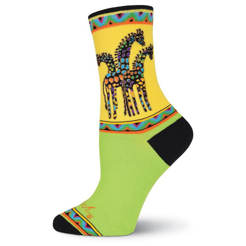 "Laurel Burch Socks ""Rainbow Giraffe""  - LB1049"