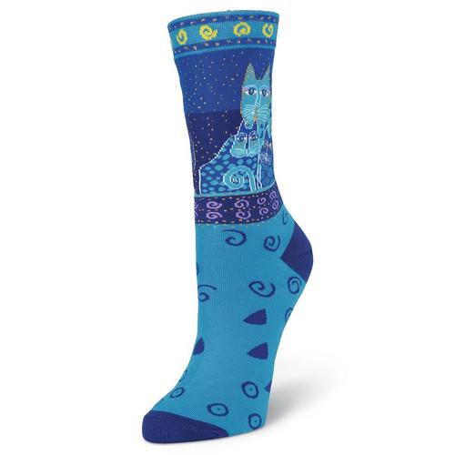 """Laurel Burch Socks """"Blue Cats"""" - LB1058"""