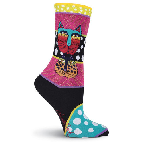 "Laurel Burch Socks ""Wild Cats"" - LB1074"