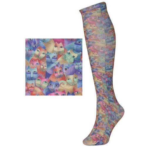 Laurel Burch Sublimated Trouser Socks Cats - LB1108