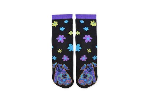 Laurel Burch Slipper Socks - Dog and Doggie - LB1111