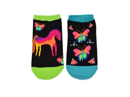 Laurel Burch Short Socks 2 Pair Pack - Mystical Horse - LB1113-2