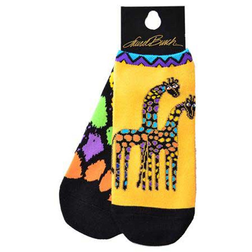 Laurel Burch Short Socks 2 Pair Pack - Giraffes - LB1116-2