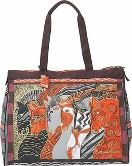 Laurel Burch Moroccan Mares Horse Travel Bag Handbag Tote - LB2012