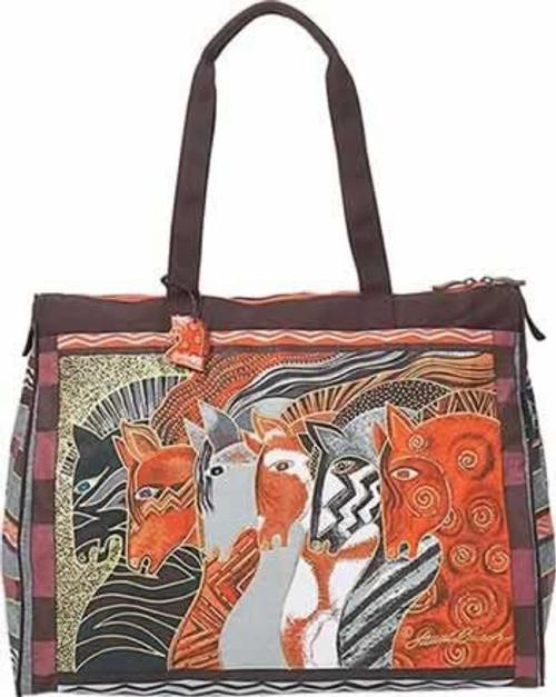 Laurel Burch Moroccan Mares Horse Travel Bag Handbag Tote - LB2012