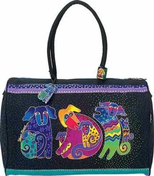 Laurel Burch Dogs and Doggies Overnighter Travel Tote - LB2072