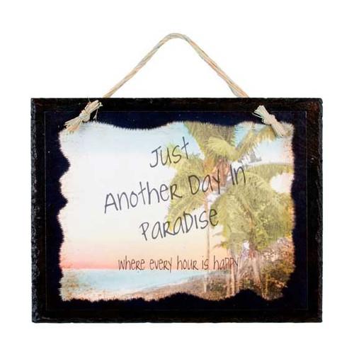 Palm Paradise Slate Sign 33575