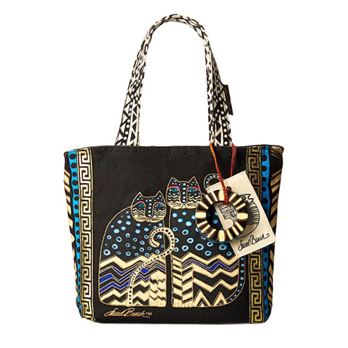Laurel Burch Polka Dot Gatos Small Tote - LB4314