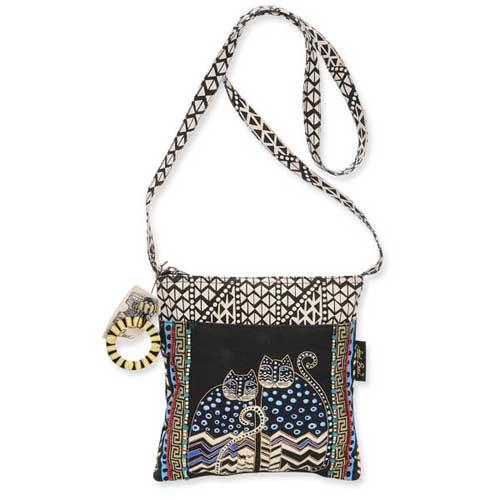 Laurel Burch Polka Dot Gatos Crossbody Bag - LB4315