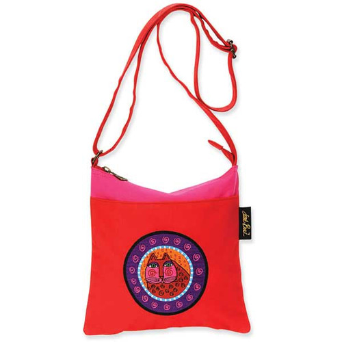 Laurel Burch Feline Crossbody Bag Red LB4670B