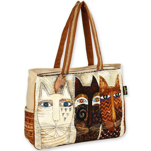 Laurel Burch Ancestral Cats Oversized Tote - LB4761