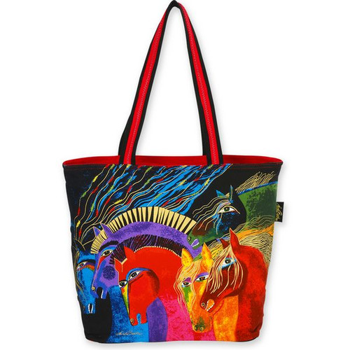 Laurel Burch Wild Horses of Fire Large Shoulder Tote - LB4840