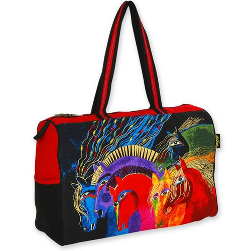 Laurel Burch Wild Horses of Fire Travel Bag Overnighter - LB4841