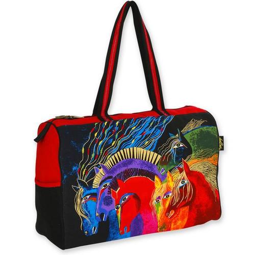 Laurel Burch Wild Horses of Fire Travel Bag Overnighter - LB4841