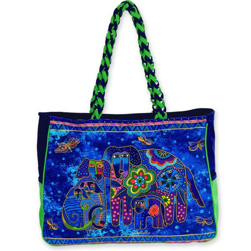 Laurel Burch Canine Family Oversized Tote - LB4851