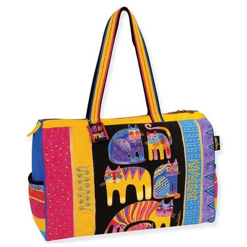 Laurel Burch Fantastic Feline Totem Travel Bag Overnighter - LB5122