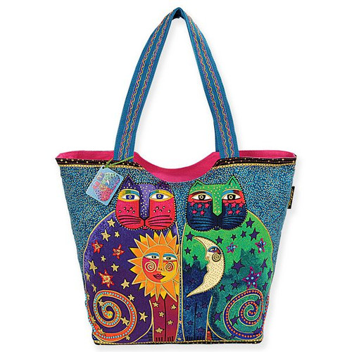 Laurel Burch Celestial Felines Scoop Tote - LB5170