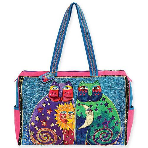Laurel Burch Celestial Felines Travel Bag Overnighter - LB5171